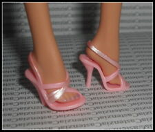 SHOES BARBIE DOLL MODEL MUSE CYNTHIA ROWLEY  PINK STRAPPY SANDALS HIGH HEEL