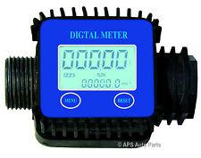 Digital Electronic Flow Meter Diesel Water Oil Fluid Liquid with LCD Display