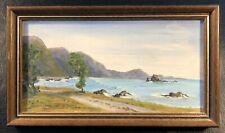ORIGINAL Ölgemälde von Jane Winstanley aus 1992: KAIKOURA COAST (NZ-Neuseeland)