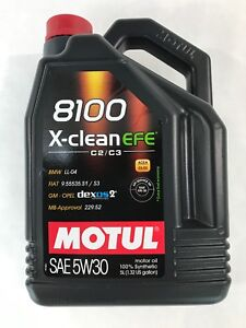 109471 Motul 8100 X-CLEAN EFE 5W30 100% Synthetic Performance Engine Oil-5 Liter