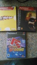 Lot of 3 PS2 games Twisted Metal Black Crazy Taxi  in the groove (R)