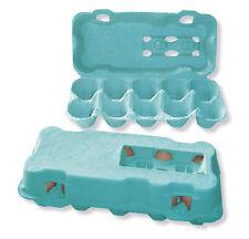 510 neutrale 10er Eierschachteln, grün; Eierkartons, Eierverpackungen, 10 Eier