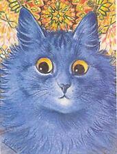 CAT, CHAT, KATZE, SURPRISED BLUE CAT, LOUIS WAIN, MAGNET