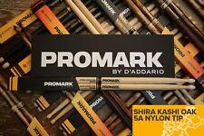 Promark Shira Kashi Roble 5 A Nylon Punta Tambor Palos ladrillo de 6