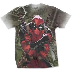 Deadpool Official allover print XXL T shirt 2XL