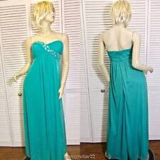 NWOT BLONDIE NITES JUNIOR PROM DRESS 5 STRAPLESS Jade Green w Beads LONG GOWN