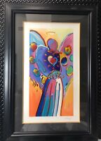 PETER MAX ANGEL WITH HEART  SIGNED   NUMBERED BEAUTIFUL #82/350