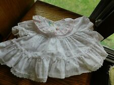 Pink Rosebud Baby Party Dress Vintage with Ruffles and Lace Size 6-9 Month