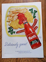 1952 Hunt's Tomato Catsup Ad  Deliciously Yours!