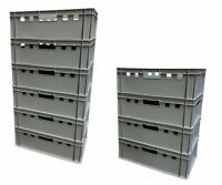 20 gro e auer lagerboxen stapelbox sichtlagerkasten lagerbox eurobox lagerkisten ebay. Black Bedroom Furniture Sets. Home Design Ideas