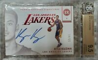 KYLE KUZMA ENCASED 2017-18 ROOKIE SCRIPTED SIGNATURES /25 AUTO BGS 9.5 MINT