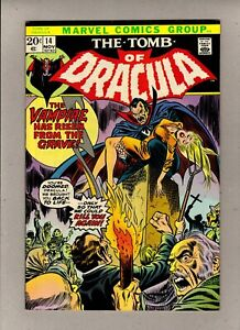 TOMB OF DRACULA #14_NOV 1973_VERY FINE/NEAR MINT_BRONZE AGE_DOUBLE COVER!