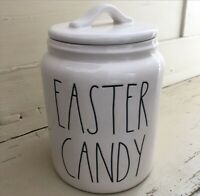 "Rae Dunn Artisan Chubby Easter Canister ""EASTER CANDY"" NEW HTF!!  LOW Ship🐰🍭🍫"