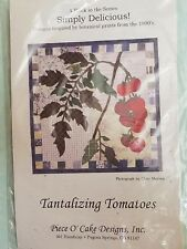 TANTALIZING TOMATOES - Simply Delicious Piece O' Cake designs QUILT BLOCK KIT