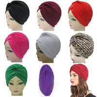 Unisex Indian Style Stretchable Turban Hat Hair Head Wrap Cap 12 Colors