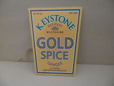 Keystone Brewery Gold Spice Ale Beer Pump Clip face Pub Bar Collectible 11