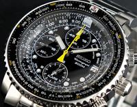 Seiko Men's Chronograph Alarm Pilot Watch Sna411p1