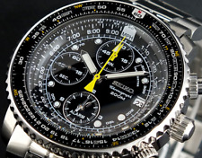 Seiko Men's Flightmaster Chronograph Alarm Watch Sna411 SNA411P1