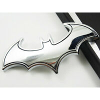 Silver Chrome Metal Badge Emblem Decal Sticker Batman Bat Motorcycle Car Logo UK