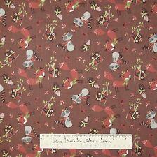 Woodland Christmas Fabric - Forest Animal Raccoon Fox Hedgehog - AE Nathan YARD