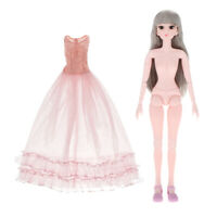 Flexible 21 Ball Jointed 1/3 BJD Doll Body With Dance Gown DIY Parts Toys