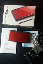 Nintendo DS Lite Crimson Red & Black System in Box w/Charger FREE Shipping!