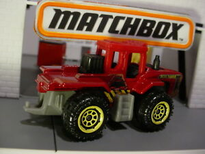 Acre Fabricante Rojo/Gris Tractor Con Enganche; 2017 Matchbox Loose mb919