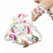 24pcs PVC Rubber Unicorn Bracelets Wristband Party Favors Supplies Gift