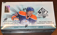 2011-12 Upper Deck SP Authentic Hockey Factory Sealed Hobby Box