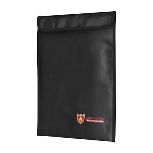 Fireproof Document Bag Silicone Coated Fire Resistant Money File Folder R6B3