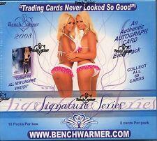 BENCHWARMER 2008 Signature Edition Trading Card Hobby Box MINT 10 Autographs
