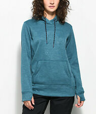 2018 NWT WOMENS BURTON QUARTZ TECH FLEECE HOODIE S $60 Jaded Heather