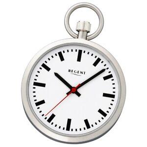 Regent Ladies, Men's Pocket Watches Stainless Steel Quartz Mineral Glass URP410