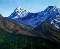 Original Impressionism Landscape Art Acrylic Painting Signed 8*10 inch on canvas