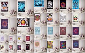 Tapisserie Murale Inde Mandala Hippie Affiche Jeté de Lit Boho Nappe Décor
