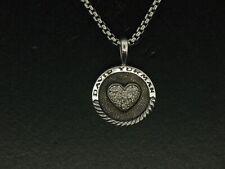 David Yurman Sterling Silver Diamond Pendant & Chain