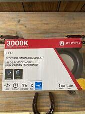 "Utilitech LED 3"" Recessed Flush Mount Remodel Kit Oil Rubbed Bronze 3000K 470L"