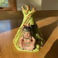 Vintage Ceramic Teepee Indian Planter Mid Century Hollywood Ceramic Calif USA