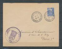 1947 Lettre Obl. Expo Philatélique de MAMERS. LUXE C454 C454