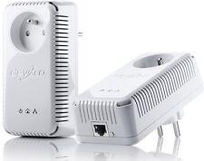 devolo dLAN Adapter 200 AV plus Starter Kit Powerline Netzwerk mit Steckdose