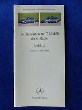 Mercedes-Benz C-Klasse Limousinen & T-Modelle - Preisliste - Prospekt 08.1999