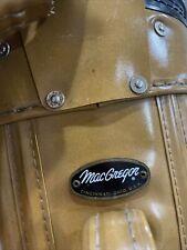 Vintage MacGregor Brown Leather Golf Bag Made In Cincinnati Ohio, Usa