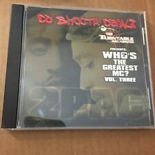 DJ Smooth Denali Who's the Greatest MC 2 Pac EDITION Hip Hop Mixtape MIX CD