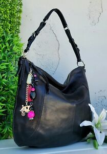Coach vintage Leather Madison Soho Hobo LRG black Shoulder Handbag Purse 12684