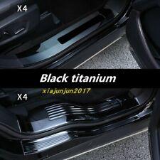 Black titanium Car Outer Door Sill Scuff Plate Trim For Ford Explorer 2016-2019