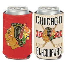 CHICAGO BLACKHAWKS VINTAGE STYLE NEOPRENE CAN COOLER COOZIE KOOZIE HOLDER