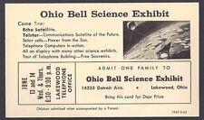1962 OHIO BELL TELEPHONE HAS SCIENCE EXHIBIT, SOLAR CELLS PHONES ETC, CLEVELAND
