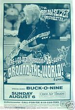 BRIAN SETZER 2000 SAN DIEGO CONCERT TOUR POSTER-Big Band Swing Music, Stray Cats