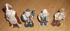 4 1988 Sarah's Attic Santa Figurines~Father Christmas,Americana,Profe ssor,Farmer