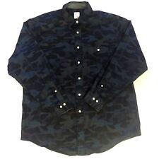 Brooks Brothers Men's Large Blue Camo Regular Fit Button Up Shirt
